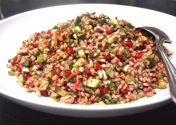 Turkish Pearl Barley Salad with Pomegranate & Herbs