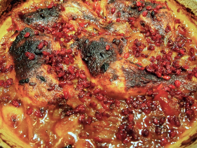 Middle eastern Baked Chicken with Tomatoes & Saffron