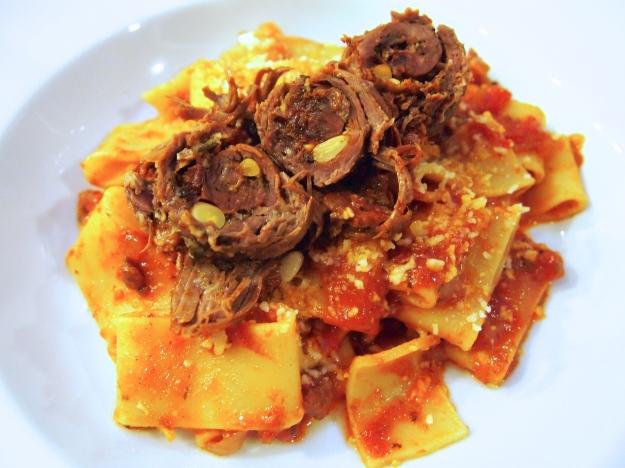 Braciole with Tomato Sauce & Pasta