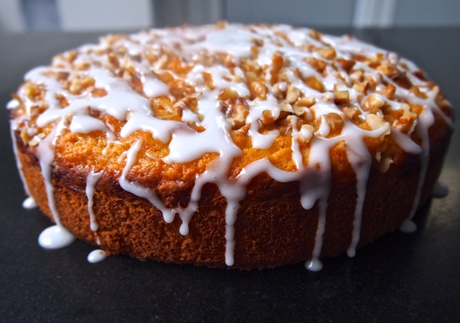 An Autumn Cake - Apricot & Walnut