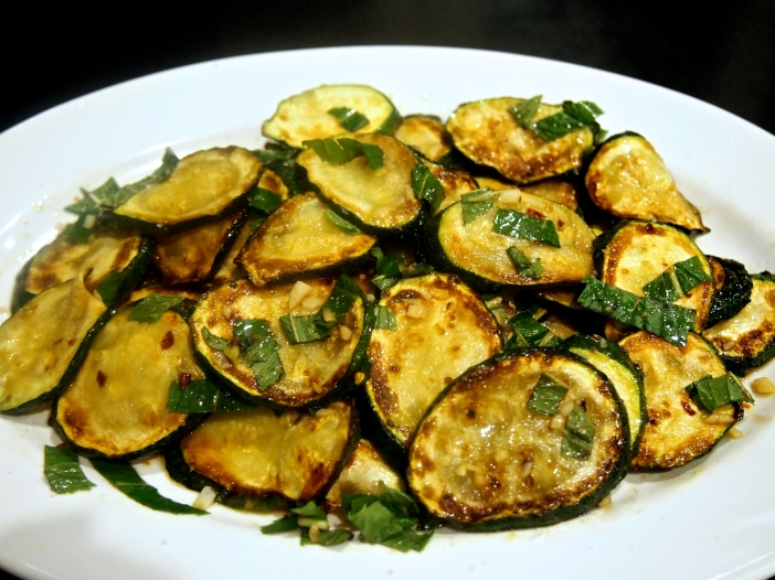 An Italian Side Dish - Marinaded Fried Zucchini with Mint