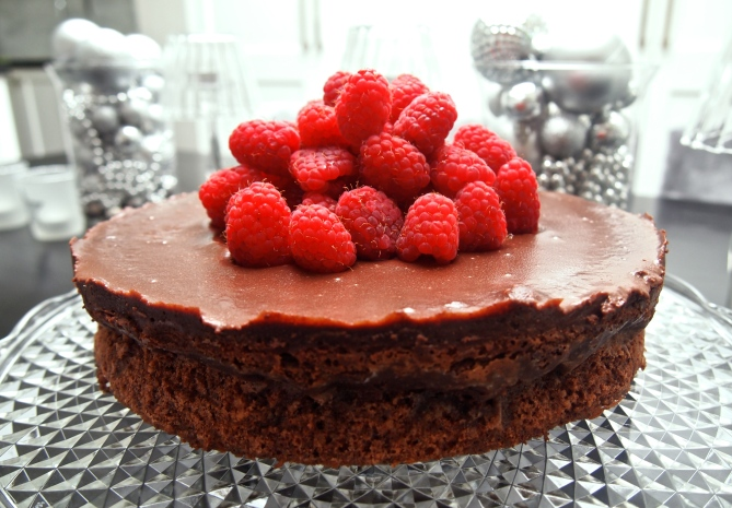 Best Ever Chocolate Dessert - Chocolate & Hazelnut Cake with Espresso Ganache
