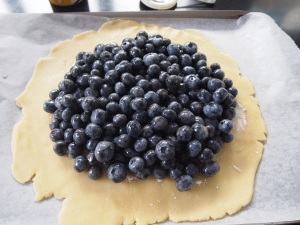 Free Form Blueberry Pie